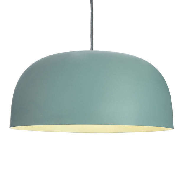 Sadum pendant lamp, light grey green, 100% metal | URBANARA pendant lamps