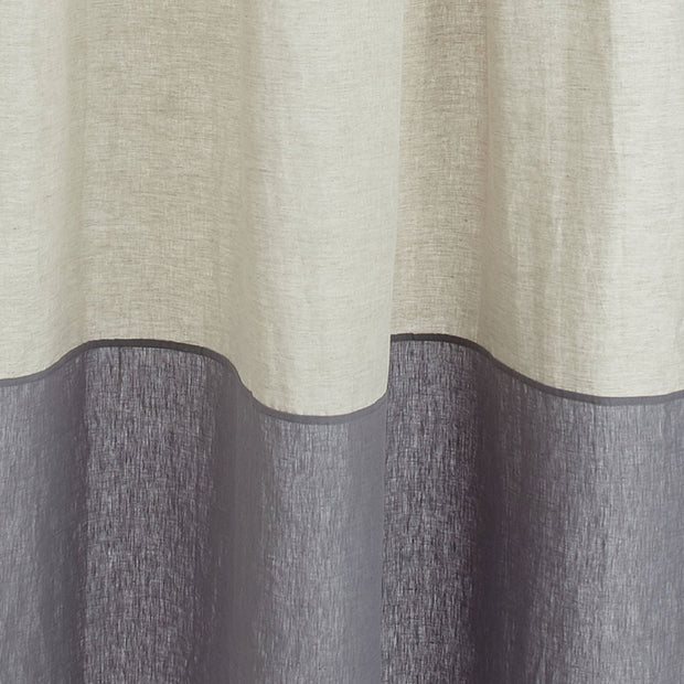 Cataya curtain, natural & charcoal, 100% linen | URBANARA curtains