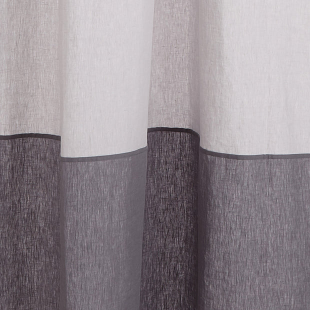 Cataya curtain, light grey & charcoal, 100% linen | URBANARA curtains