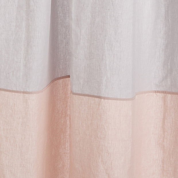 Cataya curtain, light grey & light pink, 100% linen | URBANARA curtains