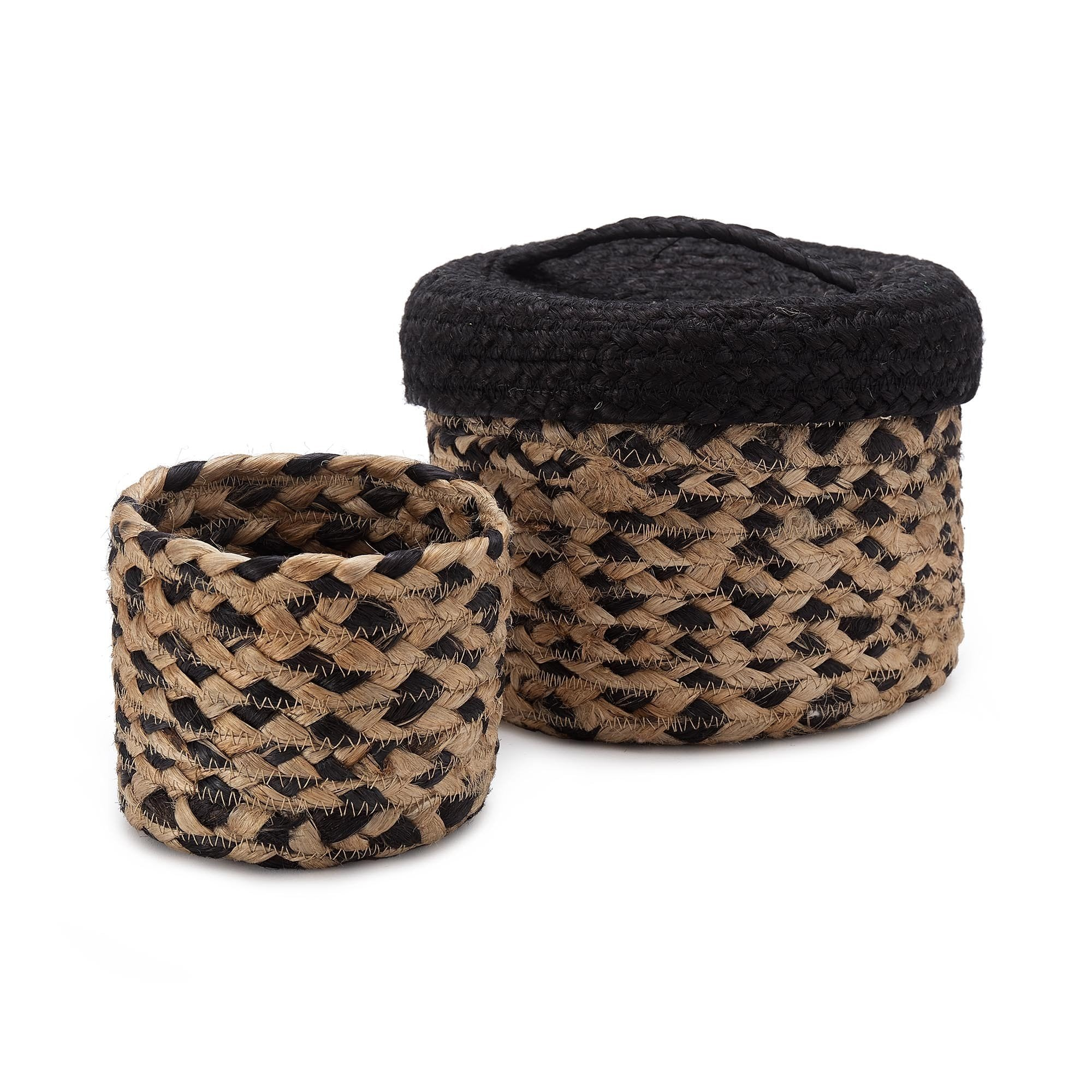 Dunagiri storage, natural & black, 100% jute