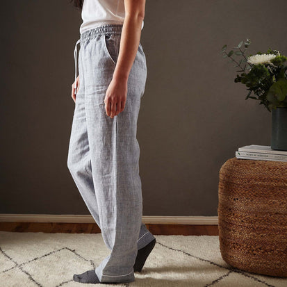 Casaal Pyjama Bottoms in dark grey blue & white | Home & Living inspiration | URBANARA