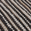 Metz Rug black & white & natural, 20% jute & 20% leather & 60% cotton | High quality homewares