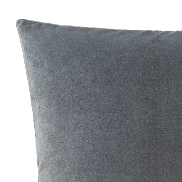 Amreli cushion cover, green grey & natural, 100% cotton & 100% linen |High quality homewares