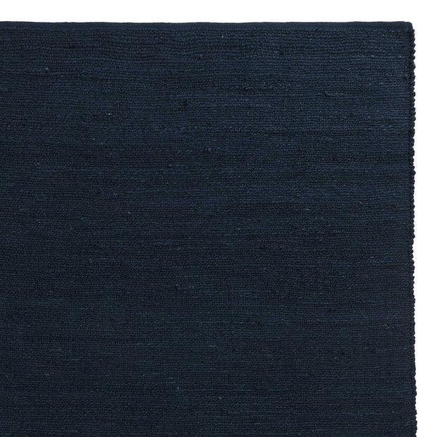 Gorbio rug, blue, 90% jute & 10% cotton