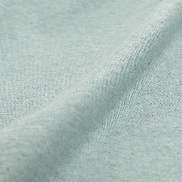 Sabugal fitted sheet, light grey green melange, 100% cotton | URBANARA fitted sheets