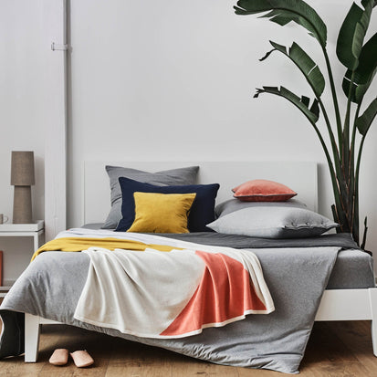 Light grey melange & Charcoal melange & Grey Coria Bettdeckenbezug | Home & Living inspiration | URBANARA