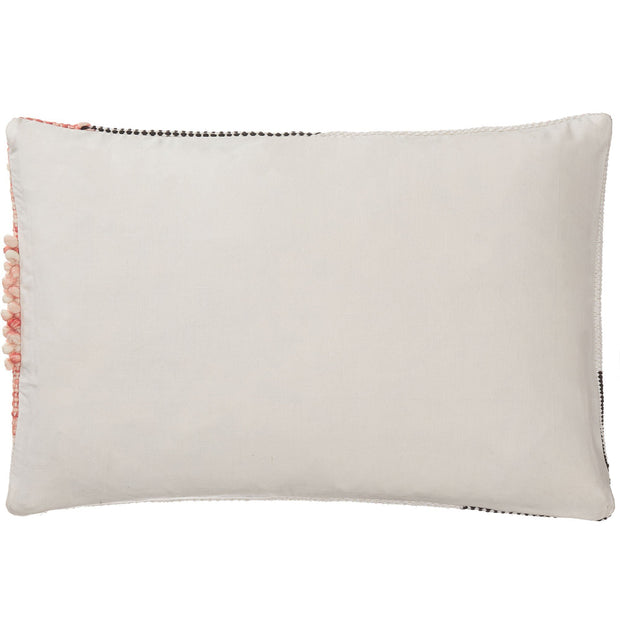 Bahadri cushion cover, natural white & black & papaya, 30% wool & 70% cotton |High quality homewares