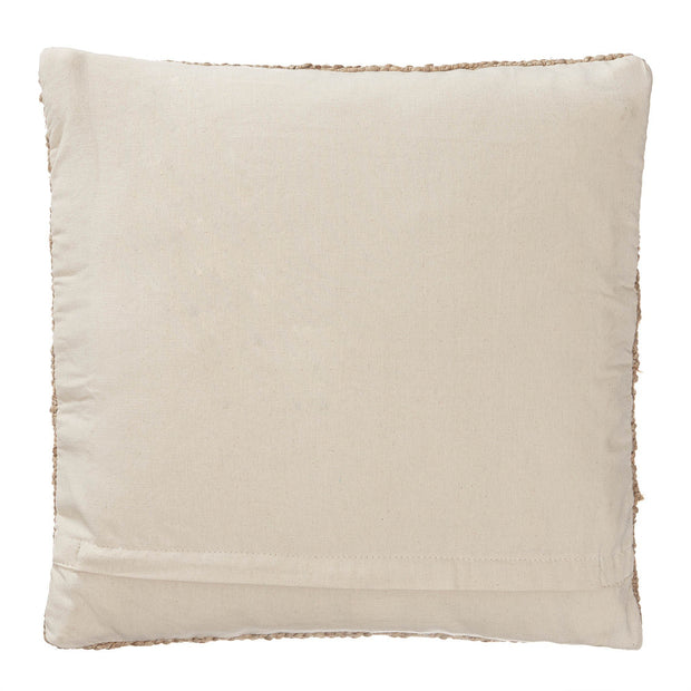 Silani cushion, natural, 90% jute & 10% cotton & 100% cotton |High quality homewares