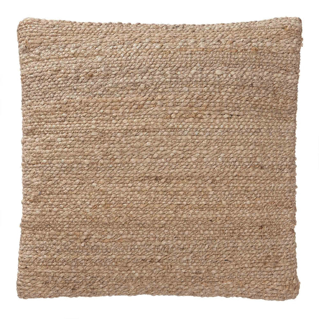 Silani cushion, natural, 90% jute & 10% cotton & 100% cotton