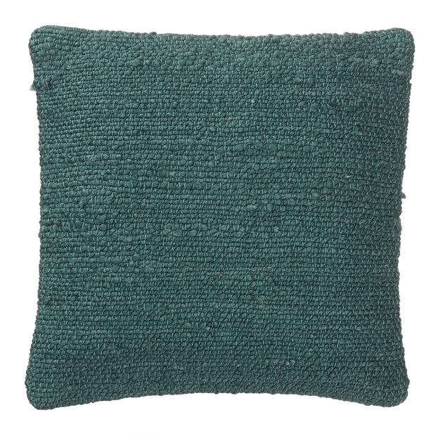 Silani cushion, grey green, 90% jute & 10% cotton & 100% cotton