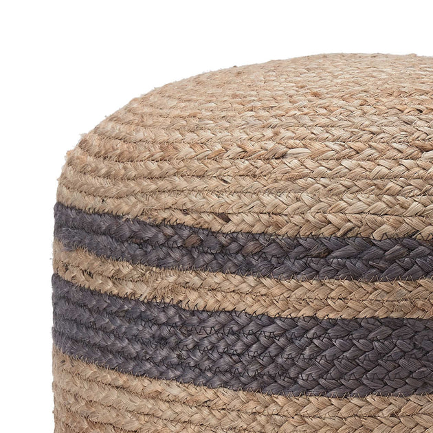 Natural & Charcoal Silani Pouf | Home & Living inspiration | URBANARA