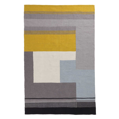 Grey & Ice blue & Bright mustard Indari Teppich | Home & Living inspiration | URBANARA