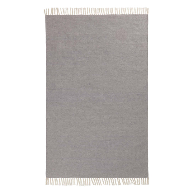 Udaka Outdoor Rug silver grey, 100% pet | URBANARA outdoor accessories