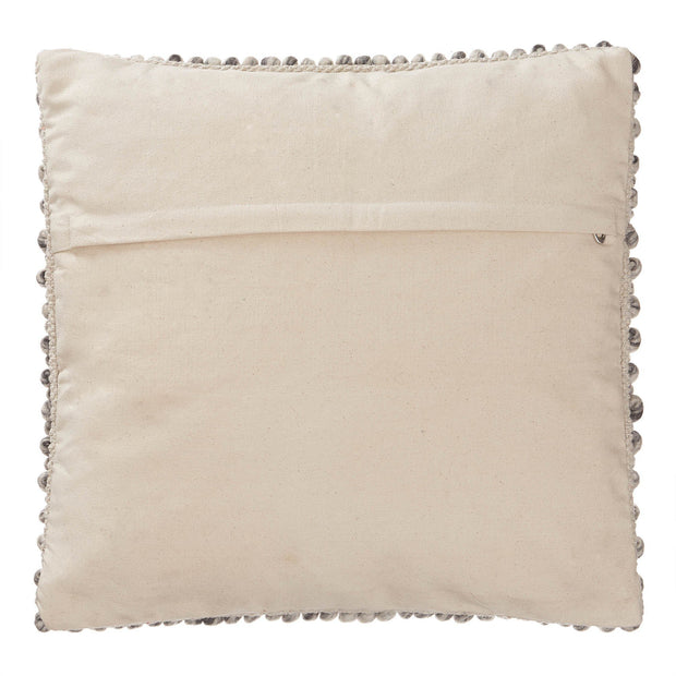 Ravi cushion cover, natural white, 70% new wool & 30% viscose & 100% cotton | URBANARA cushion covers