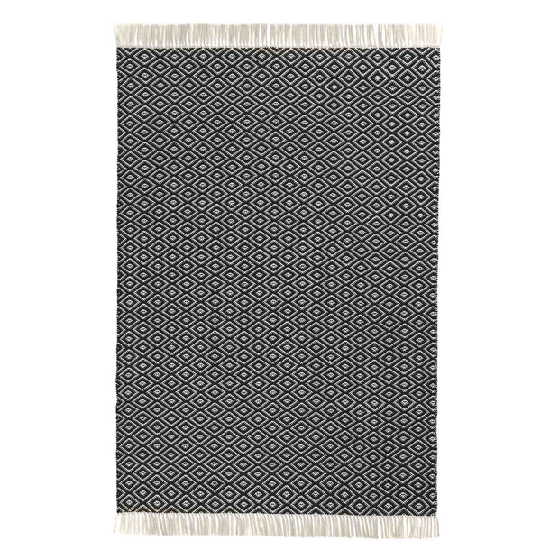 Barota Outdoor Rug black & white, 100% pet | High quality homewares