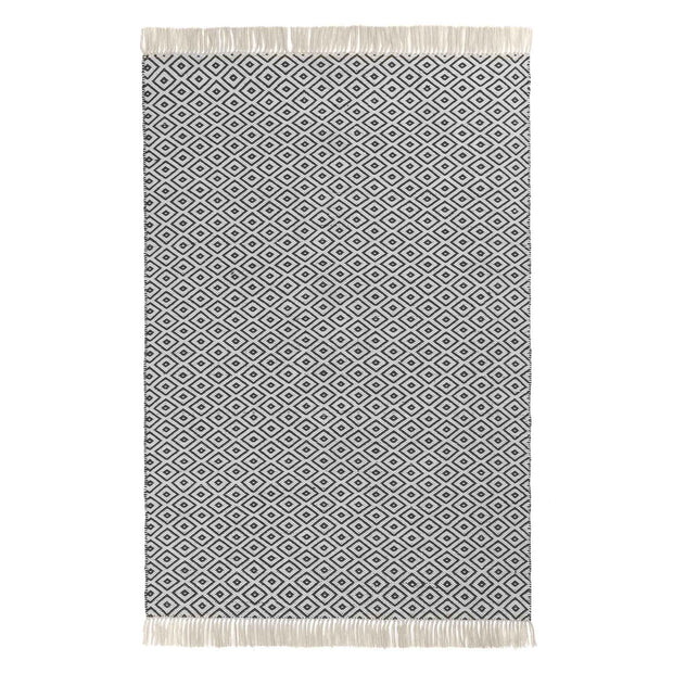 Barota Outdoor Rug black & white, 100% pet | Find the perfect outdoor accessories