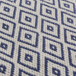 Barota rug in ultramarine & white, 100% pet |Find the perfect outdoor accessories