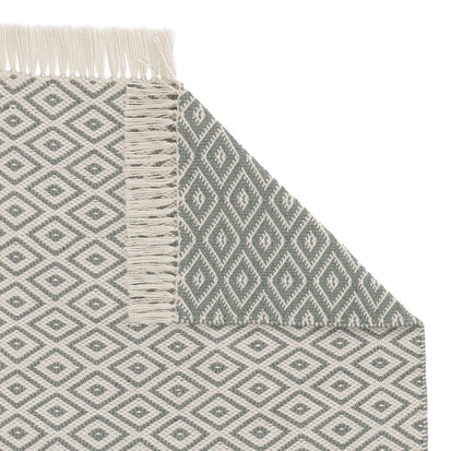 Barota rug, green grey & white, 100% pet