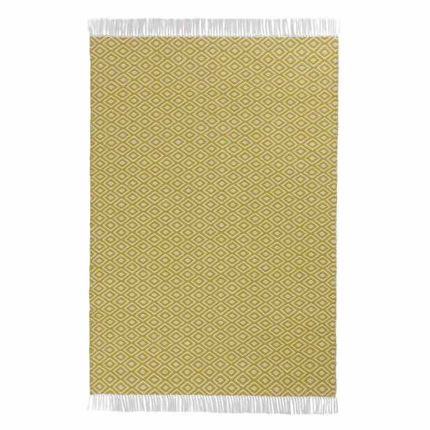 Barota Outdoor Rug bright mustard & white, 100% pet | High quality homewares