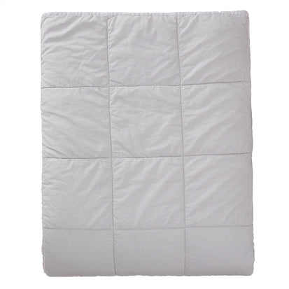 Karlay Linen Quilt light grey, 100% linen & 100% cotton