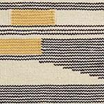 Kovalam rug, black & bright mustard & natural white, 90% wool & 10% cotton | URBANARA wool rugs