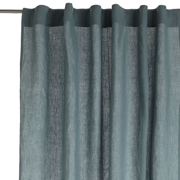 Saveli Curtain in light green grey & green grey | Home & Living inspiration | URBANARA