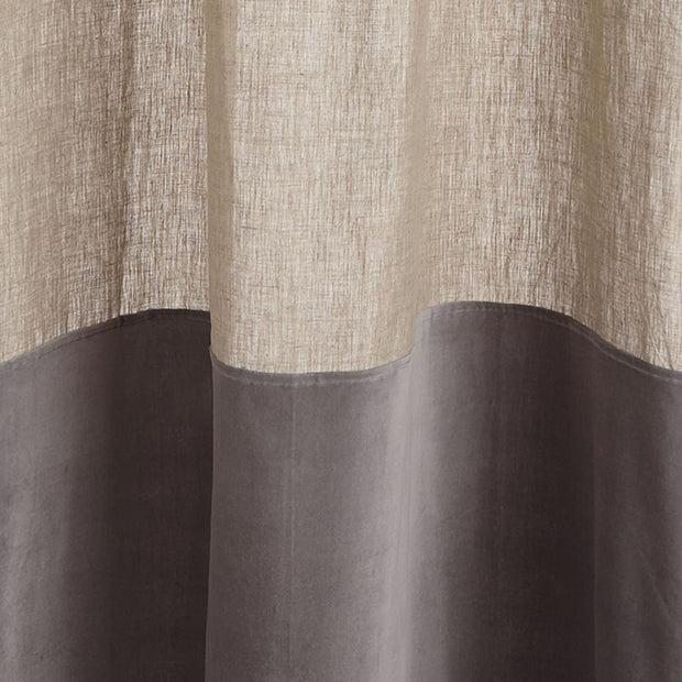 Saveli Curtain natural & grey, 100% linen & 100% cotton | Find the perfect curtains