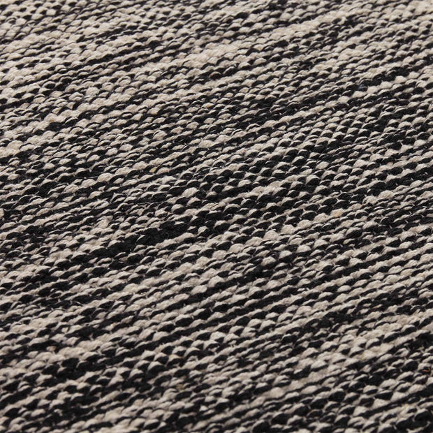 Ziller rug, black & natural white, 100% cotton |High quality homewares