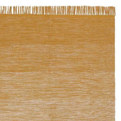 Ziller rug, bright mustard & natural white, 100% cotton