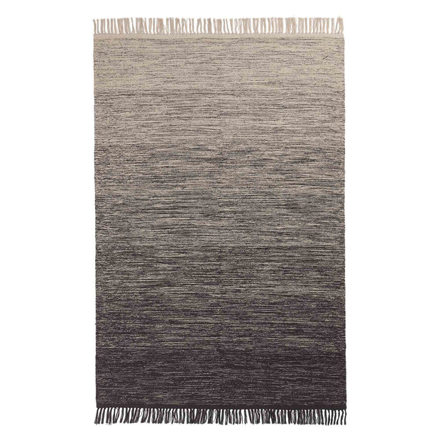 Ziller rug, grey & natural white, 100% cotton | URBANARA cotton rugs