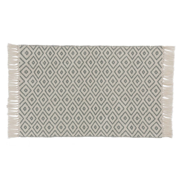 Barota doormat, green grey & white, 100% pet