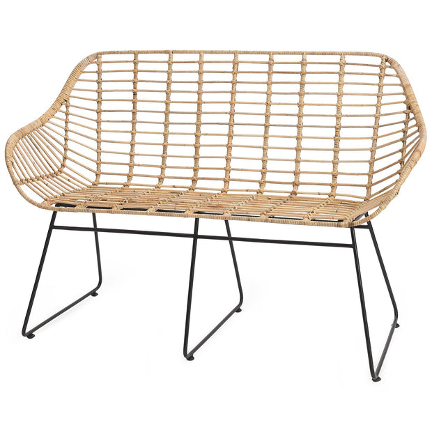 Palu bench in natural, 100% rattan |Find the perfect small furniture