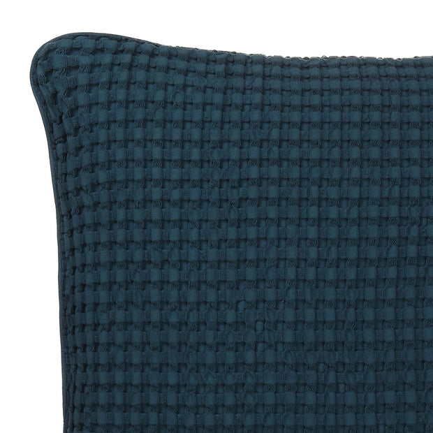 Veiros cushion cover, teal, 100% cotton | URBANARA cushion covers
