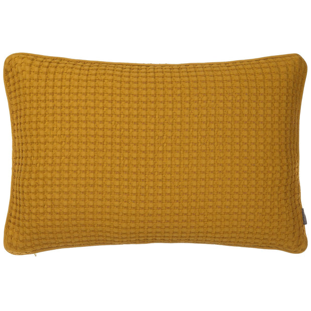 Veiros cushion cover, mustard, 100% cotton
