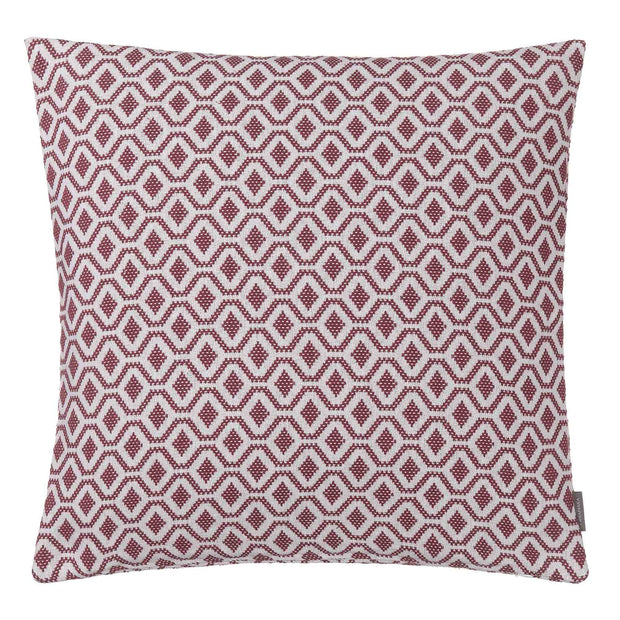 Viana cushion cover, raspberry rose & white, 100% cotton