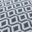 Viana cushion cover, teal & white, 100% cotton | URBANARA cushion covers