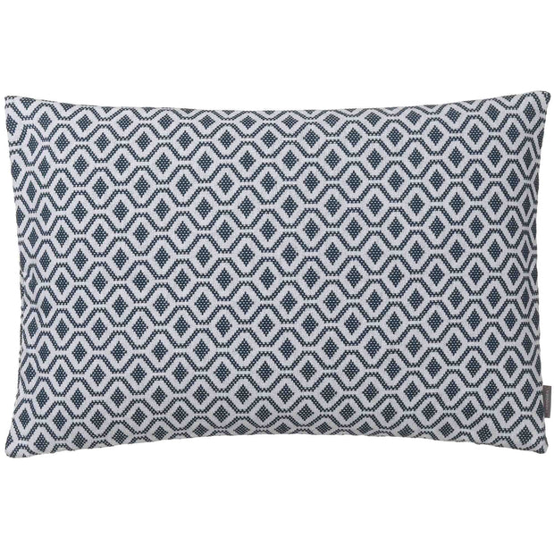 Viana cushion cover, teal & white, 100% cotton