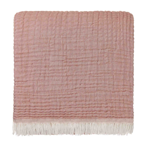 Couco blanket, rouge & natural, 100% cotton | URBANARA cotton blankets