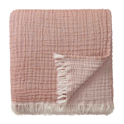 Couco blanket, rouge & natural, 100% cotton