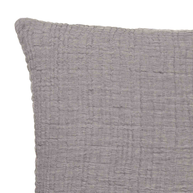 Couco Cushion light grey & grey, 100% cotton | URBANARA cushion covers