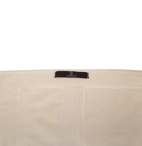 Salema hand towel, cream, 100% supima cotton |High quality homewares