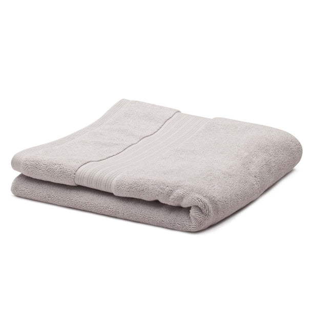 Salema hand towel, light grey, 100% supima cotton | URBANARA cotton towels