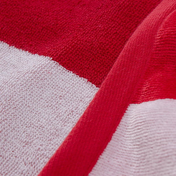 Serena beach towel, red & white, 100% cotton |High quality homewares