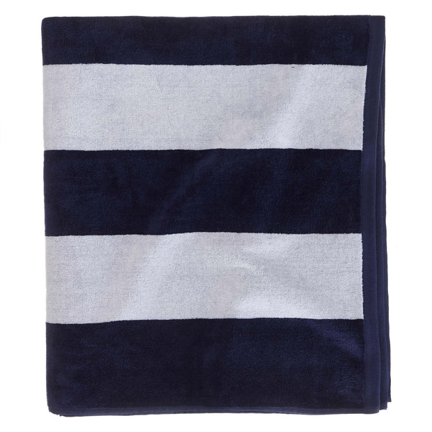 Serena beach towel, blue & white, 100% cotton | URBANARA beach towels