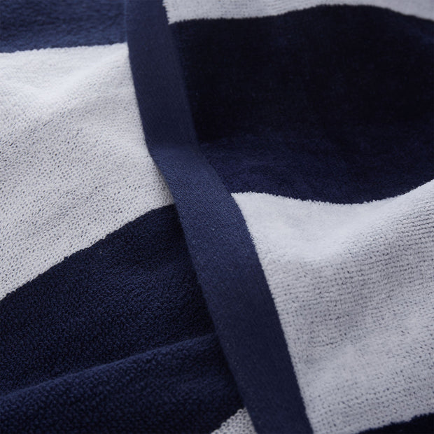 Serena beach towel, blue & white, 100% cotton |High quality homewares