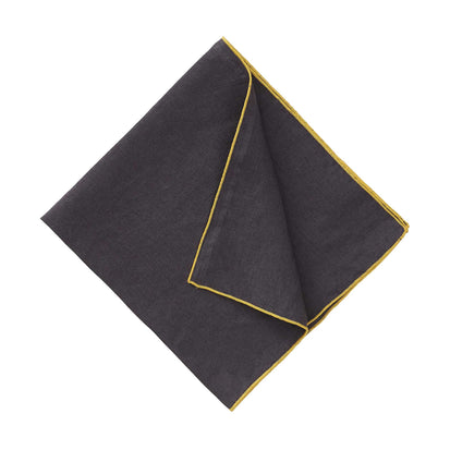 Alvalade Napkin Set [Dark grey/Bright mustard]