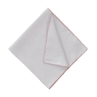 Alvalade Napkin Set light grey & powder pink, 100% linen