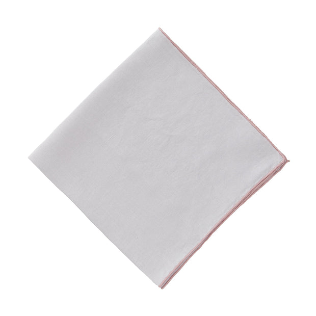 Alvalade Napkin Set [Light grey/Powder Pink]