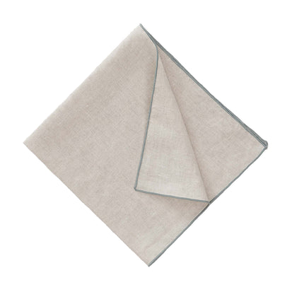 Alvalade Napkin Set [Natural/Green grey]